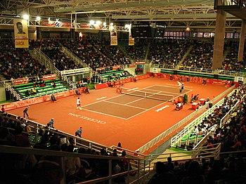Interior del pabellón en una imagen tomada durante la disputa del Master Nacional de Tenis 2007