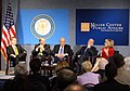 Senator Jim Webb, Council on Foreign Relations President Richard Haass, former Deputy Secretary of State John Negroponte, former Senator John Warner, & journalist Andrea Mitchell at Ronald Reagan Centennial Roundtable.jpg