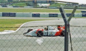 1993 British Grand Prix - Ayrton Senna was classified fifth after running out of fuel on the last lap.