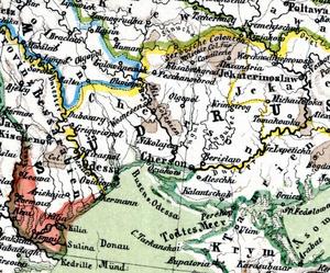 New Serbia (historical province) - Image: Serbische Colonien
