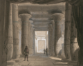 Set design by Philippe Chaperon for Act1 sc2 of Aida by Verdi 1871 Cairo - Gallica - Restored.png
