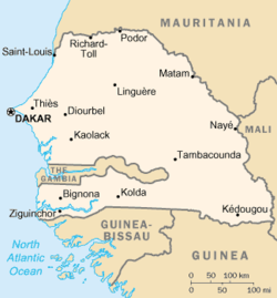Mapa do Senegal