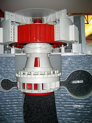2009 Sayano–Shushenskaya power station accident - Model of a turbine within the power station