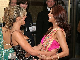 Shilpa Shetty - Danielle Lloyd (left) and Shetty (right) at Life in a... Metro premiere at London's Leicester Square, 2007.