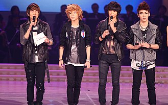 Shinee - Onew, Taemin, Minho and Key at the KBS Music Festival in 2011.