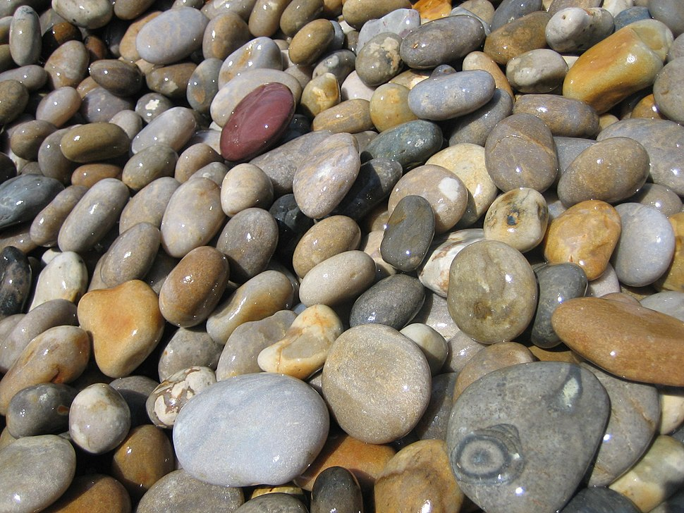 Shingle on Chesil Beach at Chesil Cove