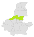 Shirin Tagab district location in map of Faryab province.png