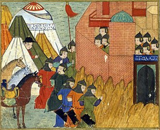 Erbil - Siege of Erbil by the Ilkhanid Mongols in 1258–59 depicted in the Jami' al-tawarikh by Rashid-al-Din Hamadani Bibliothèque Nationale de France, Département des Manuscrits, Division Orientale