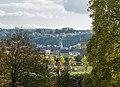 Sichtachse ehem. Lustschloss Ludwigsberg - Ludwigskirche Saarbrücken.jpg