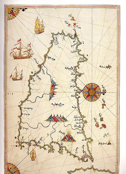 Historic map of Sicily by Piri Reis Sicily by Piri Reis.jpg