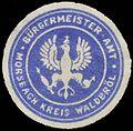 Siegelmarke Bürgermeister-Amt Morsbach Kreis Walderöl W0382892.jpg