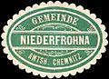 Siegelmarke Gemeinde Niederfrohna - Amtshauptmannschaft Chemnitz W0252517.jpg