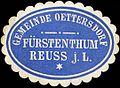 Siegelmarke Gemeinde Oettersdorf - Fürstenthum Reuss j. L. W0211974.jpg