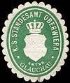 Siegelmarke Königlich Sächsisches Standesamt Oberwiera - Amtshauptmannschaft Glauchau W0252040.jpg