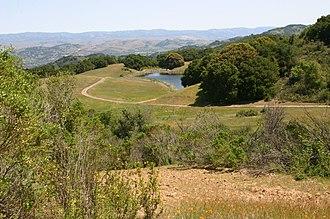 Guadalupe Creek (Santa Clara County) - View overlooking man-made Cherry Springs Lake, near Cherry Springs, the origin of Guadalupe Creek's Cherry Springs Creek tributary