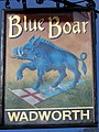 Sign for the Blue Boar - geograph.org.uk - 1650019.jpg
