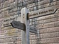 Signpost under Roxburgh Viaduct - geograph.org.uk - 771908.jpg