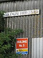Signs on farm shed - geograph.org.uk - 1516446.jpg