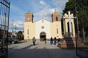 Siguatepeque - San Pablo church in the center of town