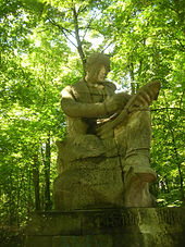 Silcher-Denkmal in der Platanenallee in Tübingen (Quelle: Wikimedia)