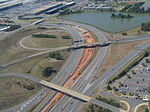 Silver Line Phase 2 construction in Dulles Access Road median, September 2015.JPG