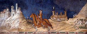 Guidoriccio da Fogliano at the siege of Montemassi - Guidoriccio da Fogliano at the Siege of Montemassi