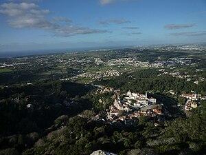 Sintra, vista do Castelo dos Mouros