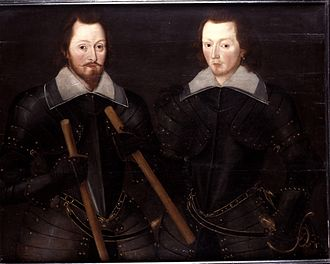 Sir Thomas Monson, 1st Baronet - Sir Thomas Monson and his son John, who succeeded him as baronet.