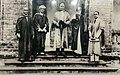 Sir Jadunath Sarkar, Sarat Chandra Chattopadhyay, Sir John Anderson , Acharya Prafulla Chandra Roy, Sir A F Rahman.jpg