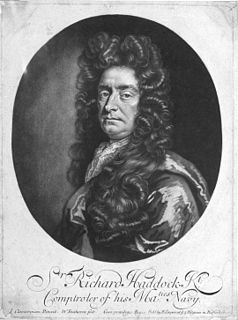 Richard Haddock Officer of the British Royal Navy (1629-1715)