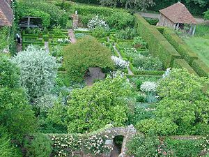 Garden design - The White Garden at Sissinghurst Castle Garden, designed by Vita Sackville-West