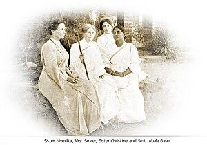 Sister Christine - Sister Nivedita, Sister Christine, Charlotte Sevier, and Lady Abala Bose in Mayavati