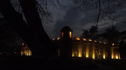 The Sixty Dome Mosque is a UNESCO World Heritage Site Sixty dome mosque in the evening.jpg