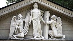 Nærbillede af Ivar Johnssons skulpturgruppe