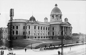 National Assembly (Serbia) - The National Assembly building during construction in the 1920s