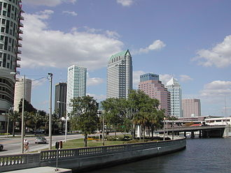 Bayshore Boulevard - Bayshore Boulevard with downtown Tampa in the background