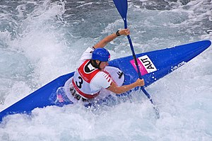 Austria at the 2012 Summer Olympics - Corinna Kuhnle in the K-1 semifinal
