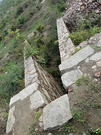 Anangpur Dam - Sluice outlet from the dam