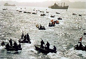 Small Boats of Iran in Taker war 3