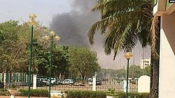 Smoke rises from Embassy of France in Burkina Faso, March 2, 2018.jpg