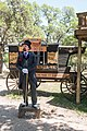 Snake-oil salesman Professor Thaddeus Schmidlap at Enchanted Springs Ranch, Boerne, Texas, USA 28649a.jpg