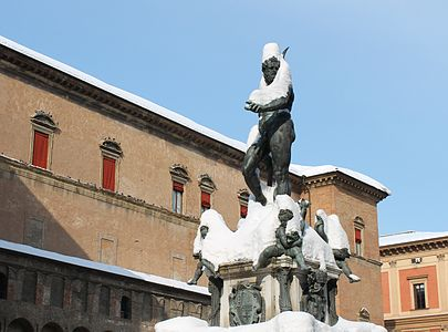 Statue of the fountain of Neptune, Bologna