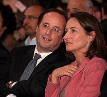 Hollande e Ségolène Royal ad un congresso del Partito Socialista nel 2007