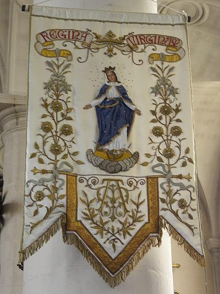 Sorcy-Saint-Martin (Meuse) église Saint-Rémi, bannière de procession