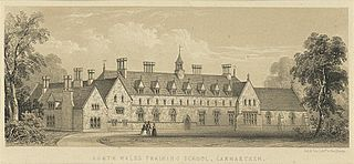 South Wales Training School, Carmarthen: south-west view