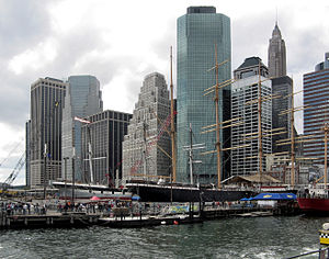 Staten Island Ferry - The South Street Seaport, where the damaged Northfield II sank