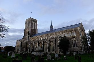St Edmund's Church, Southwold - The church following 2015 reroofing