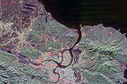 Satellite image of Taipei City