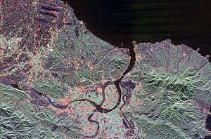 Tamsui River - Satellite image of the Tamsui River mouth