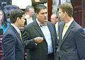 Speaker-designate Rubio and Majority Leader Andy Gardiner, at right, listen to another member.jpg